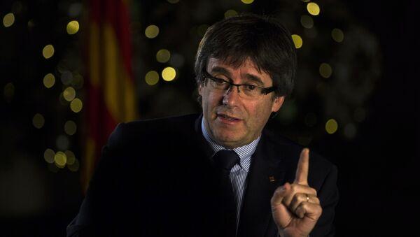 Carles Puigdemont, presidente catalán - Sputnik Mundo