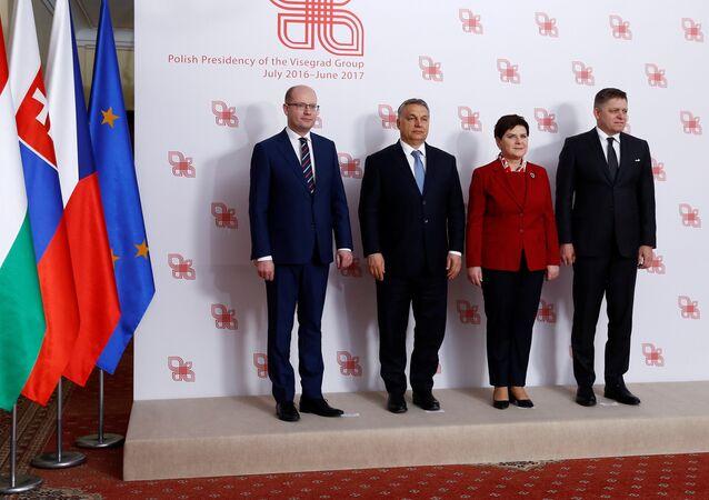 Los primer ministros del V4
