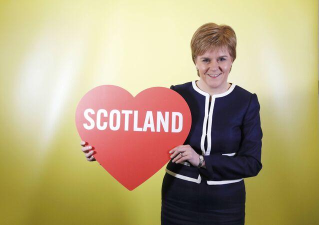 Nicola Sturgeon, primera ministra de Escocia (archivo)