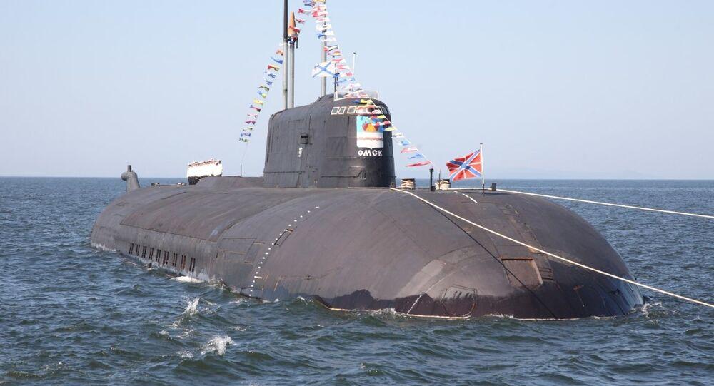 Submarino nuclear Omsk de proyecto 949A Antéi (archivo)