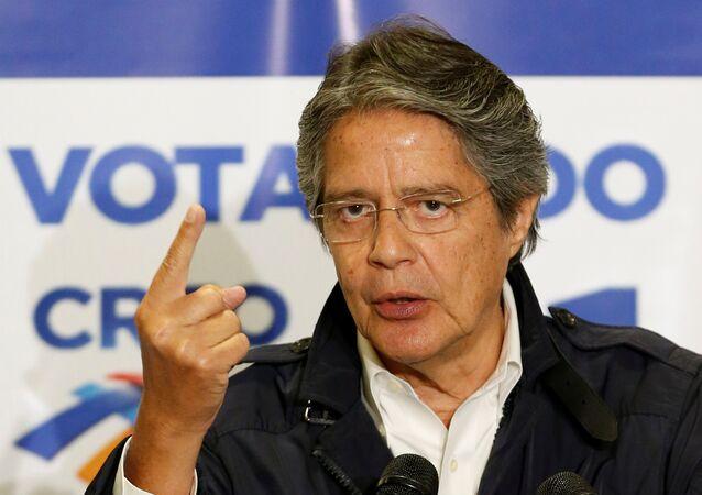 Guillermo Lasso, líder del partido opositor ecuatoriano CREO (archivo)