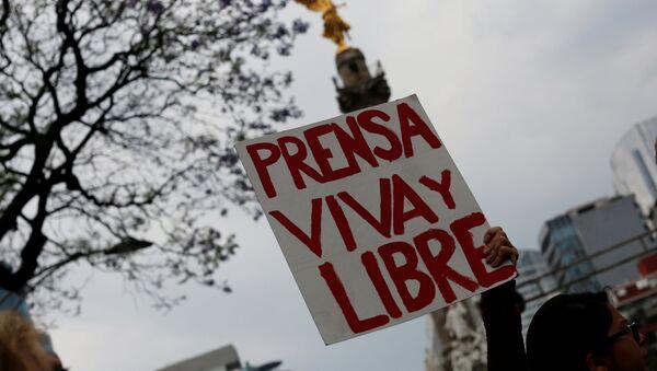 Protesta contra el asesinato de una periodista mexicana (archivo) - Sputnik Mundo