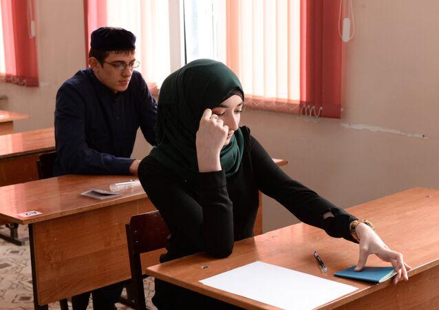 Una escuela en Grozni, Chechenia (archivo)