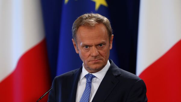 President of the European Council Donald Tusk takes part in a joint news conference about Brexit with Malta's Prime Minister Joseph Muscat in Valletta, Malta, March 31, 2017 - Sputnik Mundo
