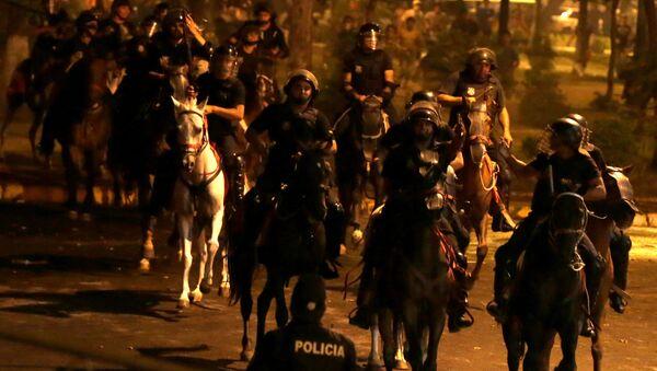 Policía de Paraguay durante protestas - Sputnik Mundo