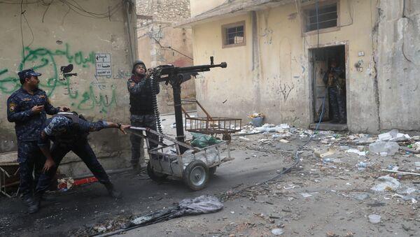 La policía federal de Irak en Mosul (archivo) - Sputnik Mundo