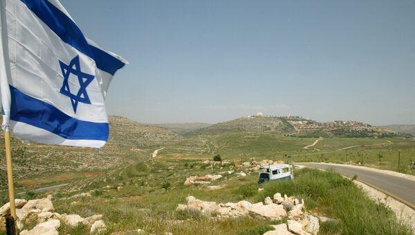 La bandera de Israel en el asentamiento del Valle de Shiló (archivo) - Sputnik Mundo