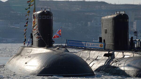 Los submarinos de Flota de Pacífico de Rusia - Sputnik Mundo