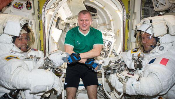 Cosmonautas de la NASA, Roscosmos y la ESA (archivo) - Sputnik Mundo