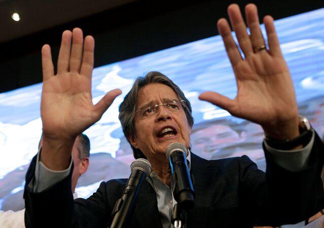 Guillermo Lasso, principal representante de la oposición ecuatoriana