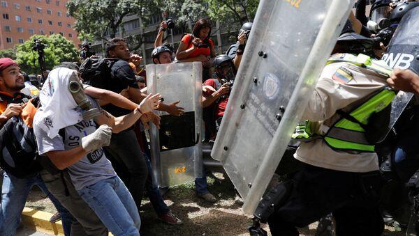 Choques en Caracas - Sputnik Mundo