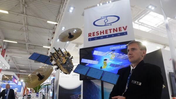 La compañía ISS Reshetnev participa de una feria aeroespacial (archivo) - Sputnik Mundo