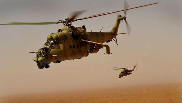 Helicópteros Mi-35 de la Fuerza Aérea de Afganistán - Sputnik Mundo