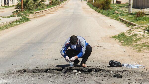 Lugar del ataque químico en Jan Sheijun, Idlib - Sputnik Mundo