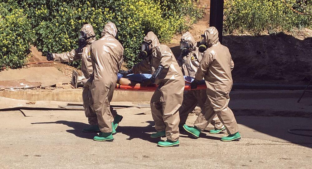 Víctima de un ataque químico en Siria (archivo)