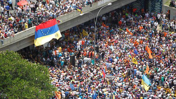 Movilización opositora en Venezuela - Sputnik Mundo