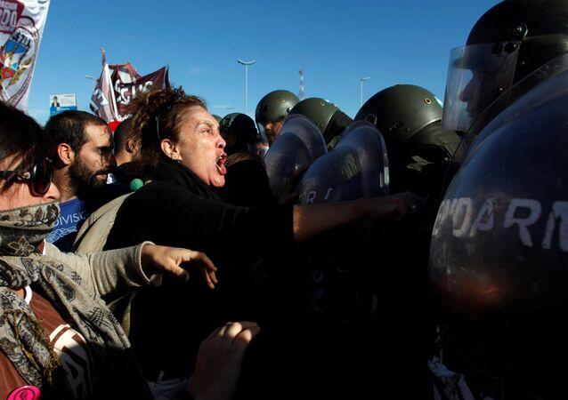 Protesta en Argentina (archivo)