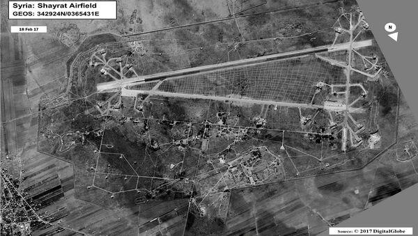 Base aérea de Shairat en la provincia siria de Homs - Sputnik Mundo