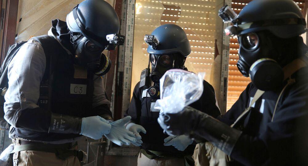 Expertos en armas químicas de la ONU en Siria (archivo)