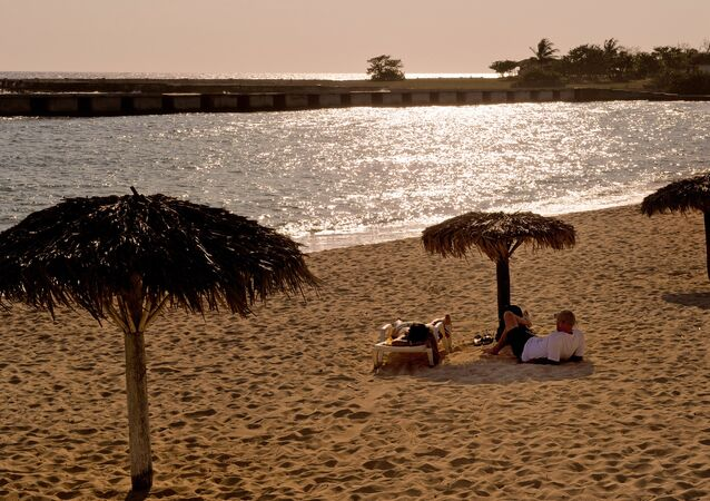 Una playa en Cuba (imagen referencial)