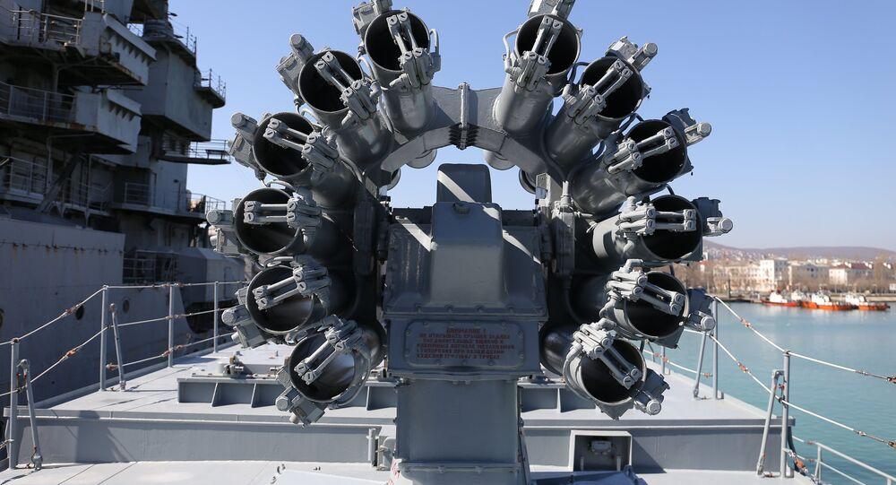 Los misiles Kalibr en la fragata Almirante Grigorovich