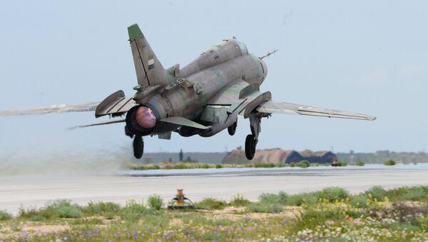 Un avión de las Fuerzas Aéreas de Siria (archivo) - Sputnik Mundo