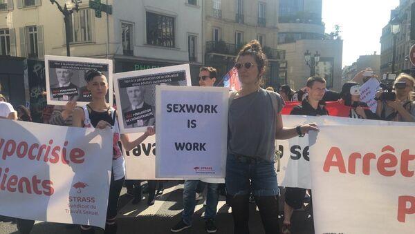 Protesta de prostitutas en París - Sputnik Mundo