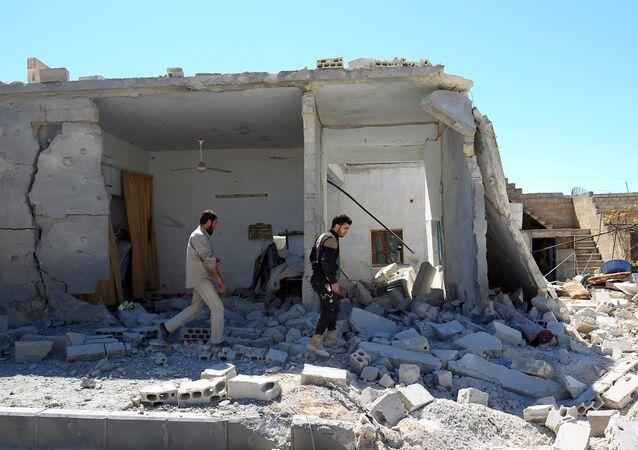 Situación en Jan Sheijun, Siria (archivo)