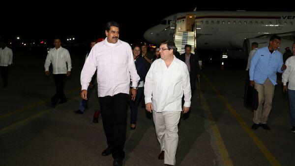 Nicolás Maduro, presidente venezolano y Bruno Rodríguez, canciller de Cuba - Sputnik Mundo