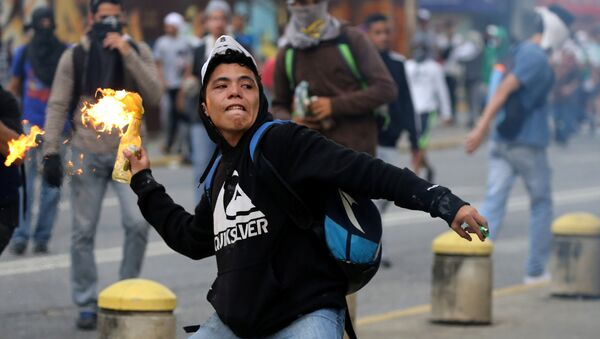 Situación en Caracas - Sputnik Mundo