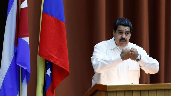 Nicolás Maduro, presidente de Venezuela, durante la clausura del Consejo Político de la Alianza Bolivariana para los Pueblos de Nuestra América - Sputnik Mundo
