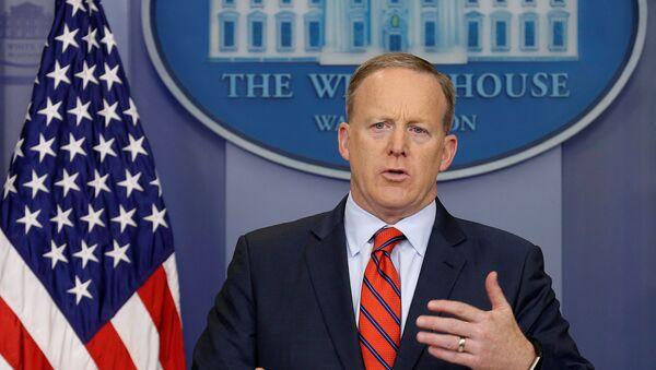Sean Spicer, portavoz de la Casa Blanca - Sputnik Mundo