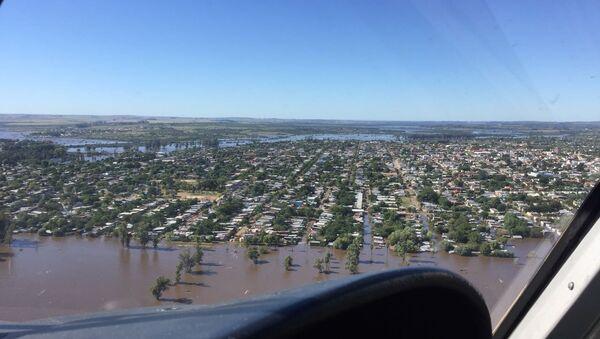 Más de 600 personas desplazadas por las inundaciones en Artigas, al norte de Uruguay (archivo) - Sputnik Mundo
