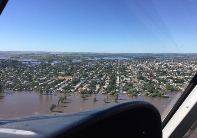 Más de 600 personas desplazadas por las inundaciones en Artigas, al norte de Uruguay (archivo)