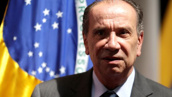 Brazilian Foreign Minister Aloysio Nunes poses for a picture at his office in Asuncion - Sputnik Mundo