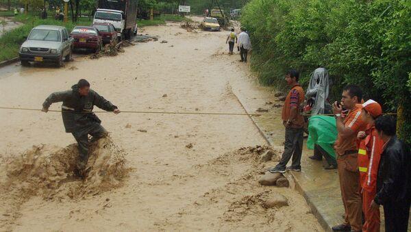 Inundación en Bucaramanga, Colombia (archivo) - Sputnik Mundo