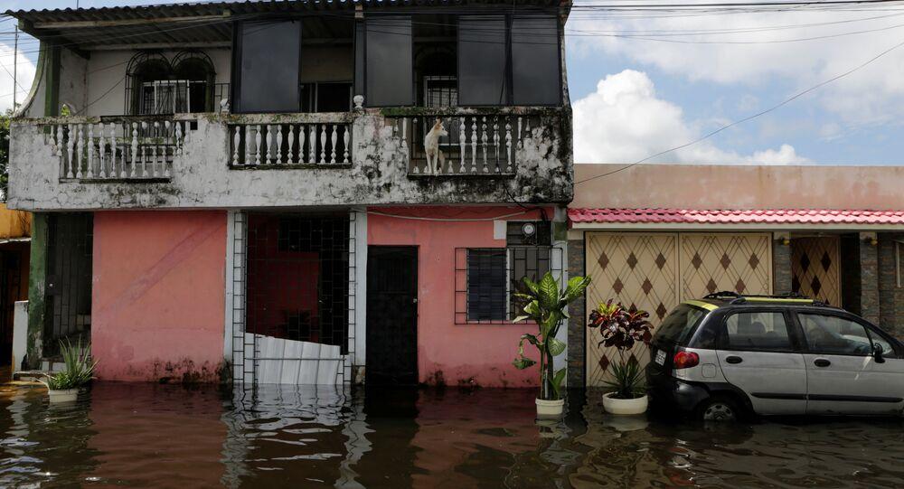 Inundacíon en Ecuador
