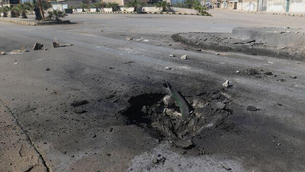 Lugar del ataque químico en Jan Sheijun, Idlib, Siria - Sputnik Mundo