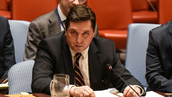 Vladímir Safrónkov, embajador adjunto de Rusia ante las Naciones Unidas - Sputnik Mundo