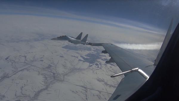 Proceso de relocalización de la aviación del Distrito Militar del sur a un polígono militar en Siberia - Sputnik Mundo