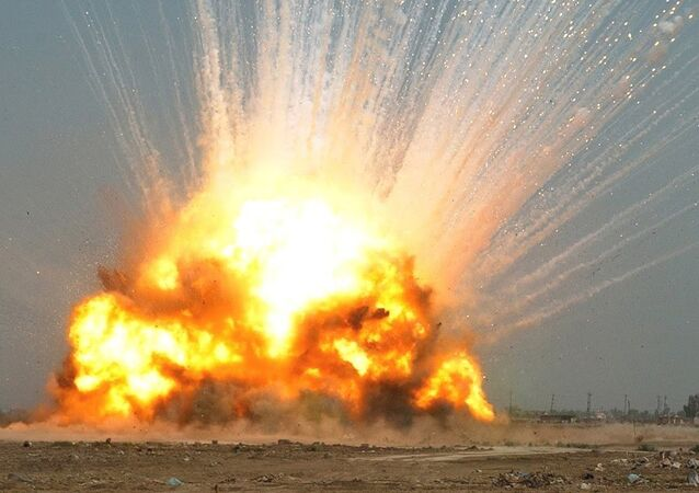 Explosión de la bomba GBU-43 (archivo)