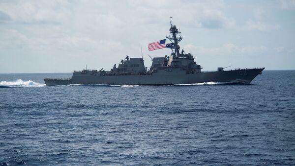 El destructor estadounidense USS Wayne E. Meyer - Sputnik Mundo