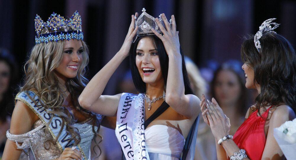Ksénia Sukhínova, la ganadora de los certámenes Miss Mundo 2008 y Miss Rusia 2007