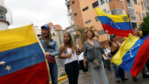 Manifestantes en Caracas, Venezuela (archivo) - Sputnik Mundo