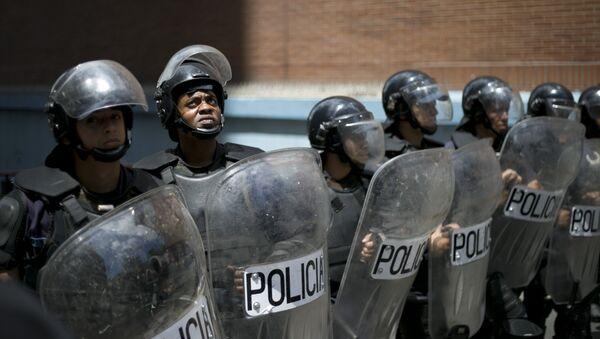 Policía venezolana en la ciudad Los Teques - Sputnik Mundo