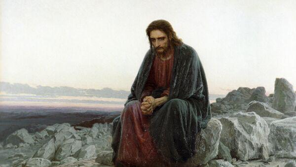 'Cristo en el desierto', cuadro del artista Iván Kramskói (reproducción) - Sputnik Mundo