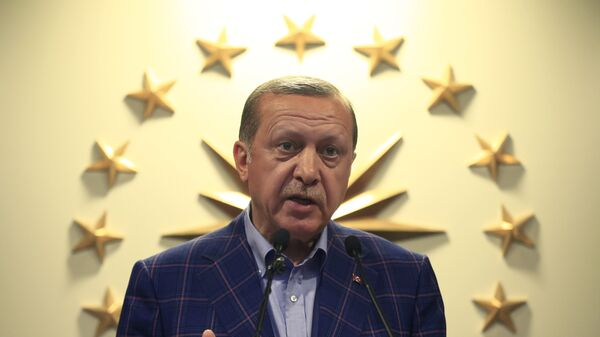 Turkey's President Recep Tayyip Erdogan makes statements in Istanbul - Sputnik Mundo