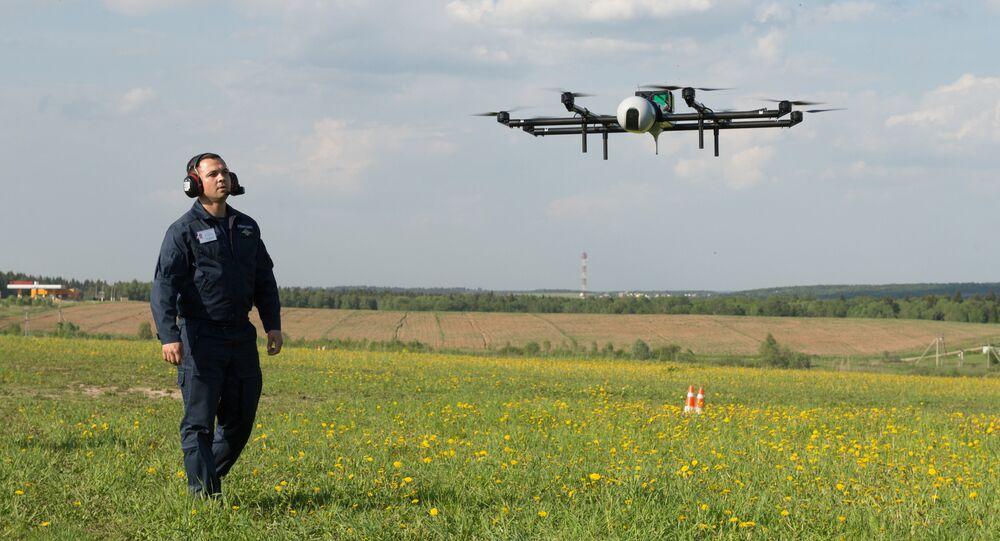 Los vuelos de demostración de los modernos drones rusos (archivo)