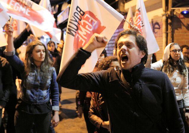 La protesta contra los resultados de referéndum en Turquía