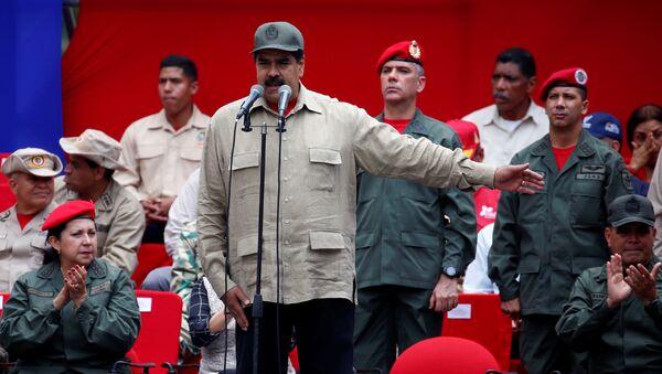 Nicolás Maduro, presidente de Venezuela, durante la celebración del Día de la Milicia - Sputnik Mundo